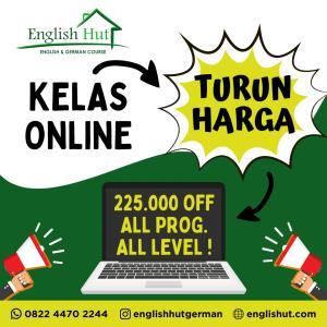 Kursus Online di English Hut Turun Harga